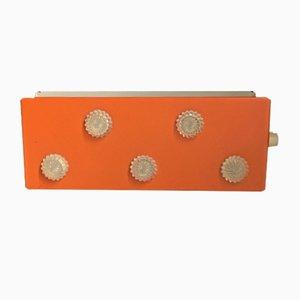 Orangefarbene Vintage Wandleuchte