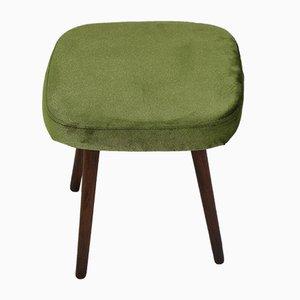 Taburete vintage verde, años 70