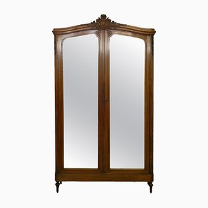 Antique French Mirrored Armoire