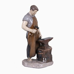 Blacksmith Figurine by Axel Locher for Bing & Grøndahl, 1940s