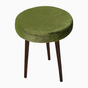 Grüner Vintage Hocker, 1970er
