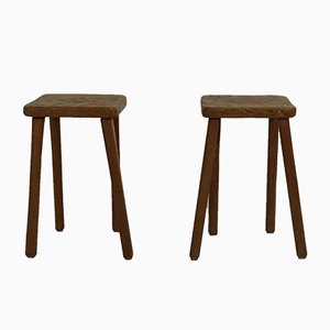 French Artisan Stools, 1950s, Set of 2