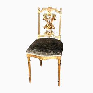 Französischer vergoldeter Gesso Stuhl aus Holz, 1900er