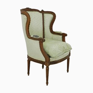 19th Century French Bergere Armchair Louis XVI