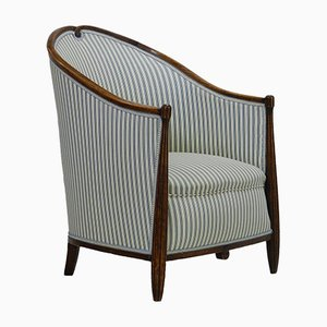 French Art Deco Bergere Chair, 1930s