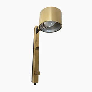 Vintage Golden Dimmer Wall Light, 1970s