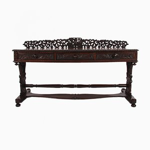19th Century Anglo Indian Carved Wood Console Table