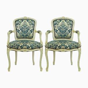 Vintage Armlehnstühle im Louis XV Stil, 2er Set