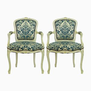 Vintage Louis XV Style Armchairs, Set of 2