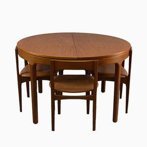 Mid-Century Esstisch und Stühle Set von Nathan