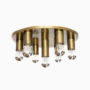 Mid-Century Brass Ceiling Lamp, 1970s