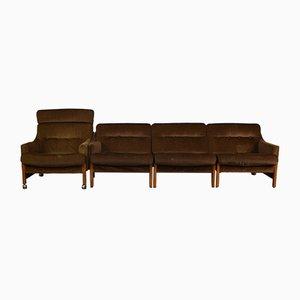 Juego de sofá y silla Mid-Century de Cintique, años 60