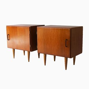 Mid-Century Belgian Bedside Cabinets, 1960s, Set of 2