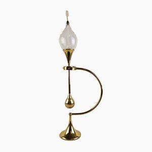 Lámpara de aceite vintage grande de latón de Freddie Andersen