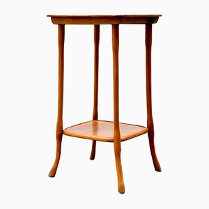 Art Nouveau Bent Beech Wood Side Table by Josef Hoffman for J & J Kohn