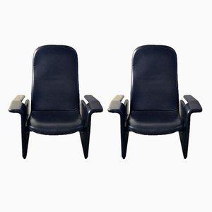 Butacas reclinables P121 de Eugenio Gerli para Gerli para Tecno, años 60. Juego de 2