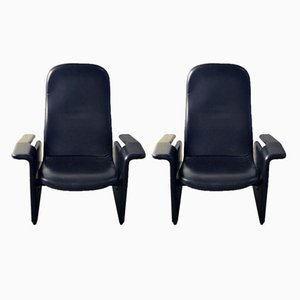 Reclining P121 Armchairs by Eugenio Gerli for Tecno, 1960s, Set of 2