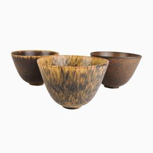 Cuencos de cerámica de Gunnar Nylund para Rörstrand. Juego de 3