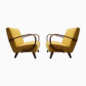 Mid-Century Modern Easy Chairs by Jindřich Halabala for Thonet, 1930s, Set of 2