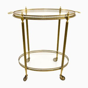 Oval French Bar Cart, 1940s