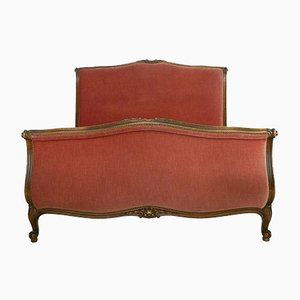 Louis XV Revival Scroll Bed, 1940s