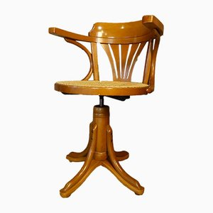 Drehstuhl mit Sitz aus Rattan, 1970er