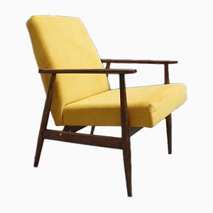 Mid-Century Yellow Armchair by H. Lis, 1960s
