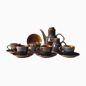 Novi Coffee Set by A. Sadulski for Mirostowice Porcelain Manufacture, 1970s