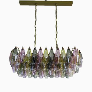 Multicolored Murano Glass Chandelier from Mazzega, 1978