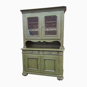 Vintage French Country Cottage Painted Hutch