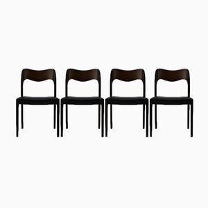 Dänische Esszimmerstühle von Niels Otto Møller für JL Møllers, 1950er, 4er Set