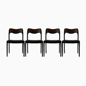 Danish Dining Chairs by Niels Otto Møller for J.L Møllers, 1950s, Set of 4