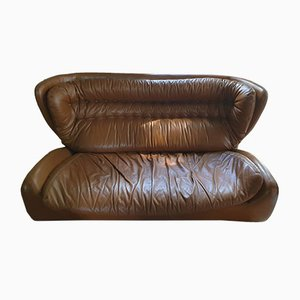 Leather Sofa by H. Waldmann and A. Schmidt for Durlet, 1970s