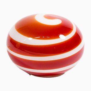 Lámpara de mesa vintage de cristal caramelo de Zicoli