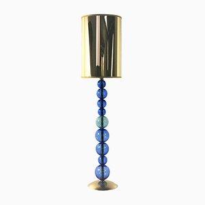 Lampe de Bureau Globe Bleu Clair par Eros Raffael pour Gallery30141
