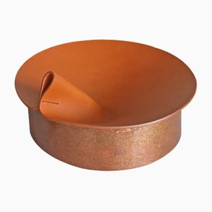 Kleiner brauner Rotonda Behälter von Cara \ Davide für Uniqka, 2019