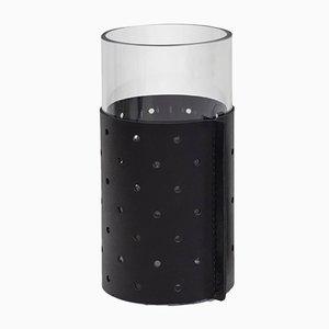 Hoher schwarzer Dot Behälter oder Vase von Bilge Nur Saltik für Uniqka, 2019