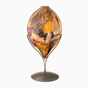Escultura de corazón Ametyst en ámbar de Eros Raffael