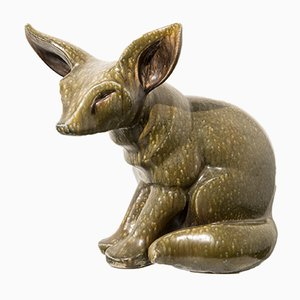 Ceramic Fennec Sculpture by Elfriede Balzar-Kopp, 1955