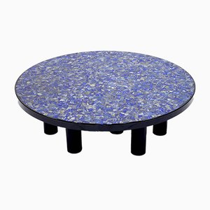 Lapis Lazuli Coffee Table by Etienne Allemeersch, 1970s