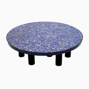 Mesa de centro Lapis Lazuli de Etienne Allemeersch, años 70
