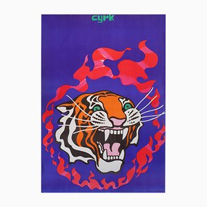 Polish Circus Poster by Tadeusz Jodlowsky, 1970