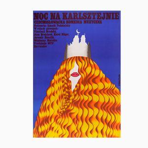 Polnisches A Night at Karlstein Filmplakat, 1975
