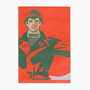 Communist Propaganda Worker Poster, 1979