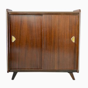 Mid-Century Veneered Shoe Rack Cabinet