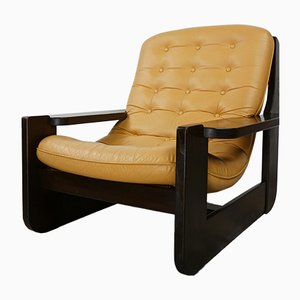Leather Lounge Chair, 1960s