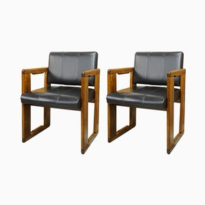 Vintage Italian Armchairs by Tobia & Afra Scarpa, Set of 2