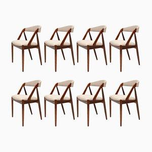 Dänische Esszimmerstühle aus Palisander & Teak von Kai Kristiansen, 1960er, 8er Set