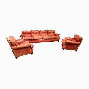 Modell Dream Set aus Sofa & 2 Sesseln von Poltrona Frau, 1970er