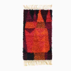 Mid-Century Model No. 68 Tulipan Rug by Bi Magnus for Rauma Rye, 1960s